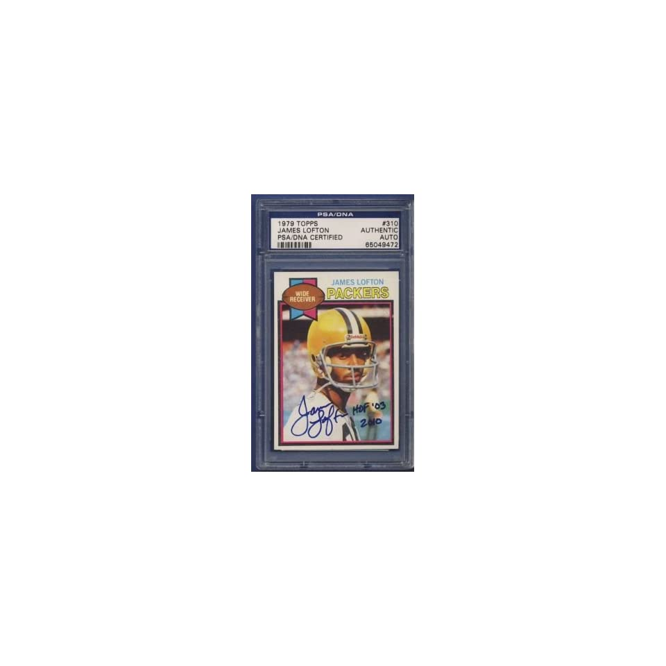 1979 Topps JAMES LOFTON Autographed/Signed Card PSA/DNA