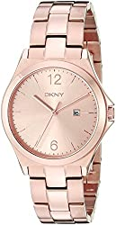 DKNY Women's NY2367 PARSONS Rose Gold-Tone Stainless Steel Watch