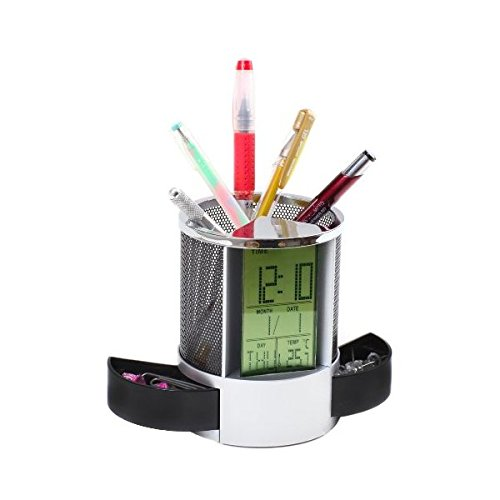 Luxury Gifts Inc multifunctional Pen Holder with Alarm/Date/Clock/Temperature/Timer