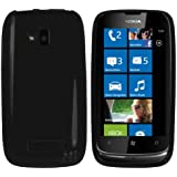 mumbi silicone TPU Coque Nokia Lumia 610 - Silicone Etui Housse Protecteur Case Noir