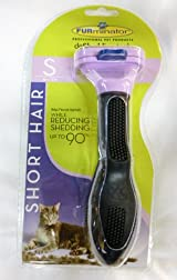 FURminator Cat deShed Tool Reduce Shedding SMALL LAVENDER 1.75-in SHORT HAIR