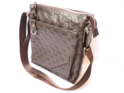 Mens Leather Tote Bag / Messenger Bag / Shoulder Bag with 8 Compartments - Pulafa