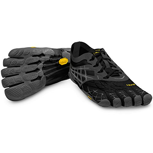 VIBRAM FIVEFINGERS Seeya LS MENS RUNNING SHOES, Black/Gray/Silver, 44 M EU
