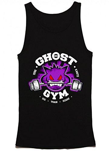 Ghost Gym Kanto Die Train Scare Pokemon Men's Tank Top Medium