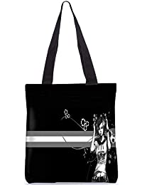 Snoogg Painted Girls Digitally Printed Utility Tote Bag Handbag Made Of Poly Canvas - B01C8MS01S