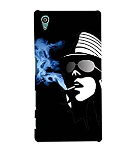 Fuson Smoking Girl Back Case Cover for SONY XPERIA Z5 - D4017