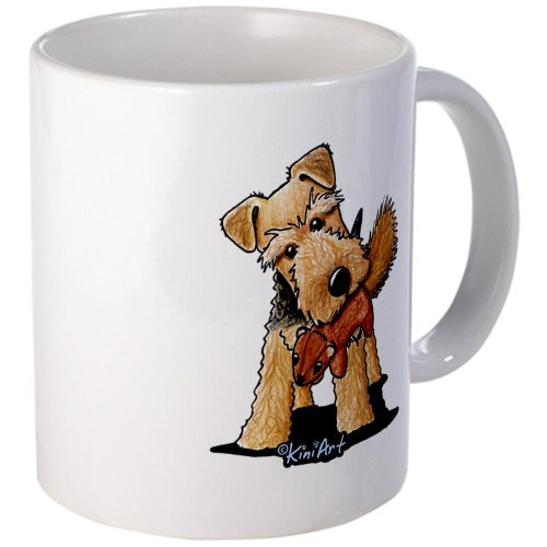 Cafepress Welsh Terrier With Squirrel Mug - Standard