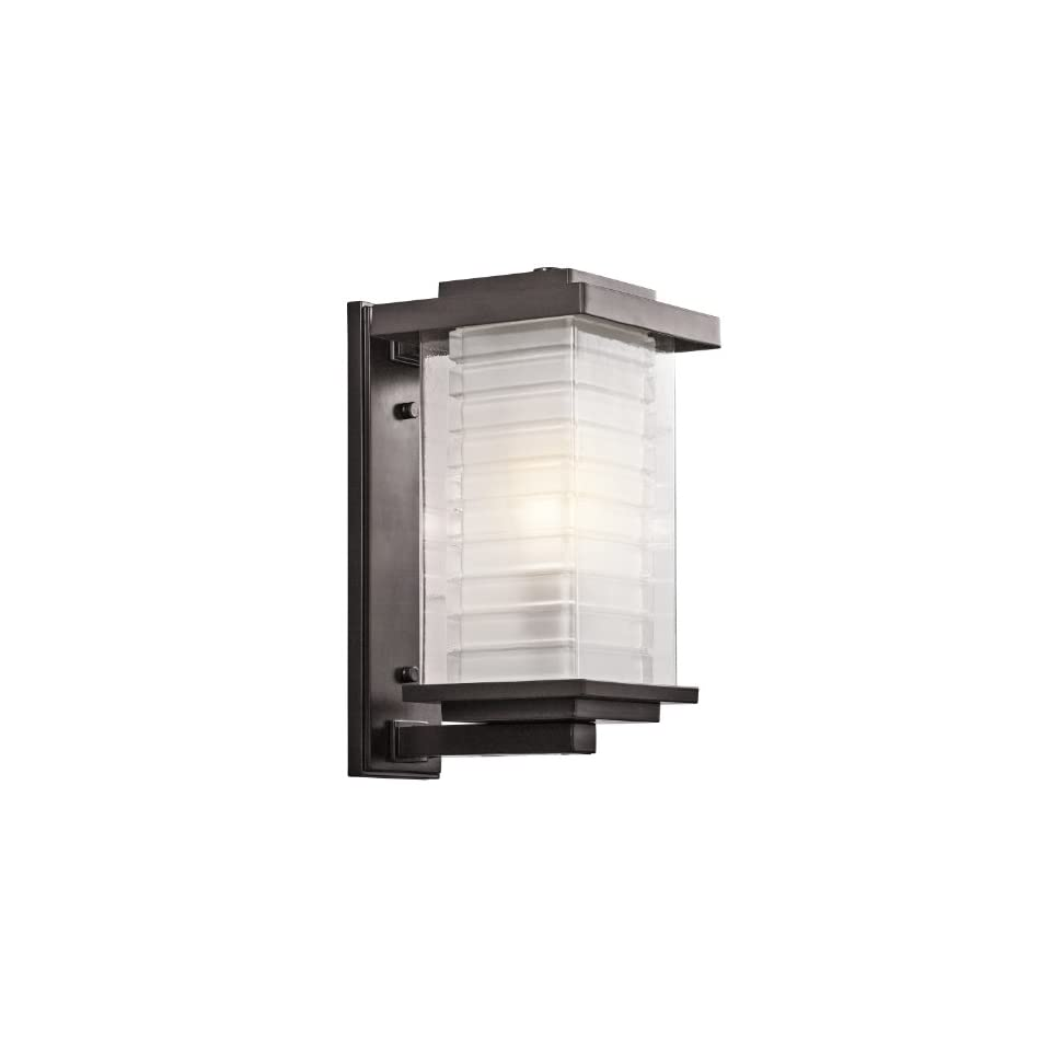 49366AZ Ascari 1 Light 17 Inch Outdoor Wall Mount, Architectural Bronze Finish with Clear Glass Outside and Frosted Glass Inside