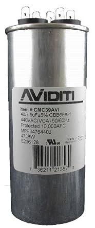 Aviditi 39AVI Capacitor, 40/7.5 Microfarad, 440-Volt