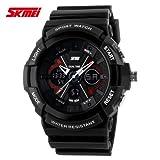 Handcuffs SKMEI 0966 Black Military Watch S-Shock Digital Sports Watch For Men
