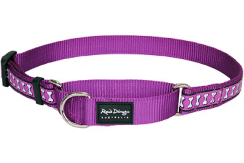 red-dingo-reflective-martingale-dog-collar-small