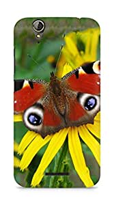 Amez designer printed 3d premium high quality back case cover for Acer Z630S (Peacock butterfly)