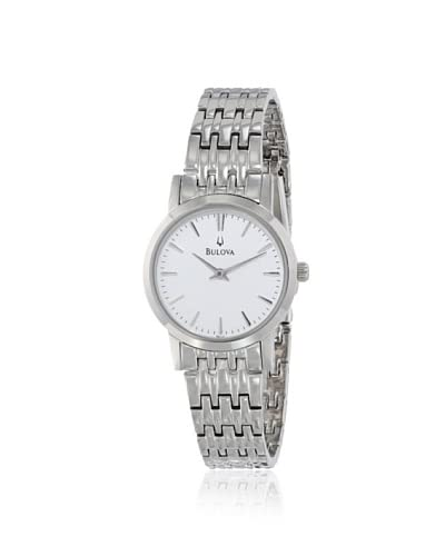 Bulova Women's 96L131 Silver White Dial Bracelet Watch