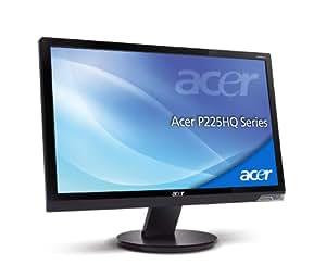 Acer P225HQ 21.5inch Wide LCD, TFT Monitor, 50000:1, 5m, 300/m2, VGA, DVI, Glossy Black