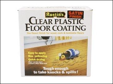 Rustins Plastic Floor Coating Kit Gloss 4 Litre RUSPFCFK4L