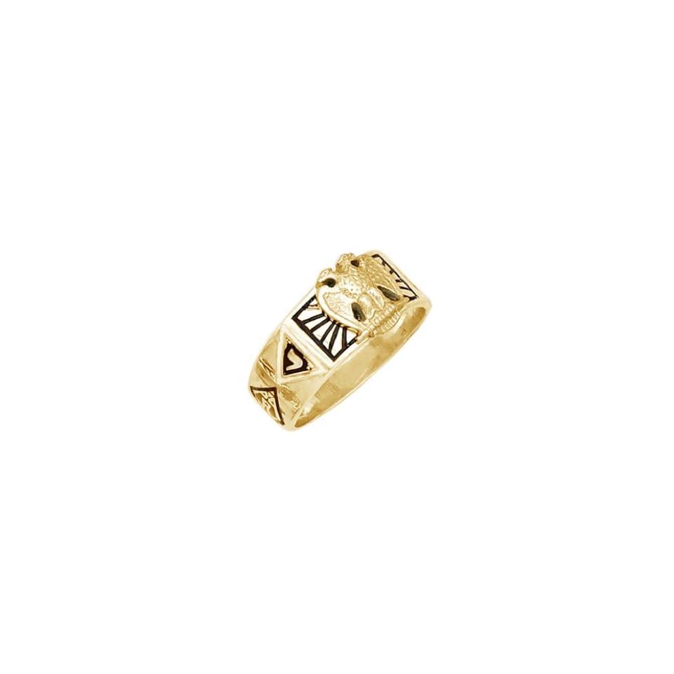 Mens Vermeil Masonic Freemason Scottish Rite Ring (Size 9)