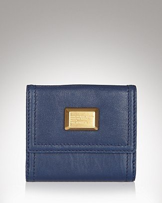 Marc Jacobs Q49 Small French Purse Wallet Dark Blue