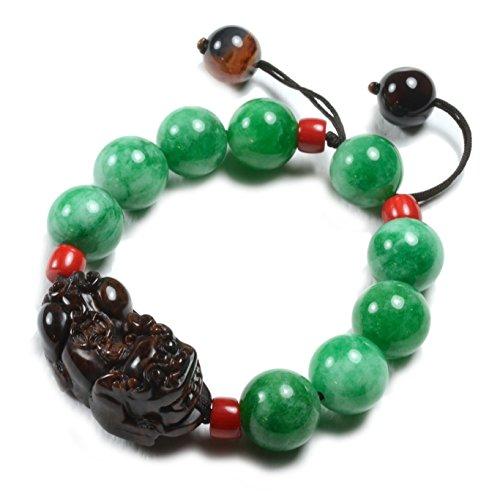 Gorgeous Feng Shui Fortune Pi Shou Tiger Green Jade Amulet Bracelet – Fortune Feng Shui Jade Jewelry