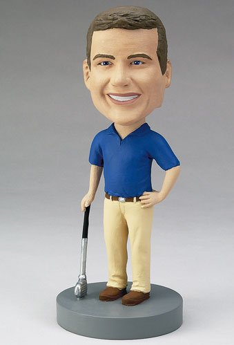 Picture of Custom sculpted golfer bobblehead doll (Bobble Head Figures)