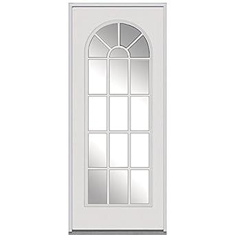 National Door Company Z000902l Steel Replacement Prehung Left Hand Inswing Entry Door Clear