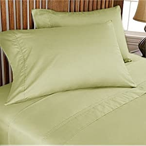 100% Egyptian cotton Luxurious Duvet Cover, Twin XL (Solid) (800 TC , Sage)