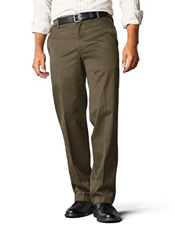 Dockers Men's Signature Khaki D2 Straight Fit Flat Front Pant,Branch,30x30