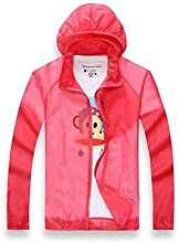 Unisex Outdoor Ultralight Rain Jacket Windbreaker - Pink - L
