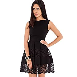 Jaune Premium Black Skater Dress