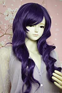 Liz Wig Dark Purple Heat Friendly Long Curly Wavy Hair Wig Lolita Cosplay Party Wig 31'' 80cm + US Shipping 3 Days Free Shipping for Amazon Prime