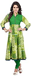INDIAN FASHION LADY Women's Cotton Kurtas (Ifl-95 , Green)