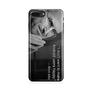 Motivatebox-Apple Iphone 7 plus cover-Steve Jobs Android Polycarbonate 3D Hard case protective back cover. Premium Quality designer Printed 3D Matte finish hard case back cover.