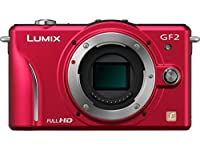 Panasonic Lumix DMC-GF2 12 MP Micro Four-Thirds Mirrorless Digital Camera with 3.0-Inch Touch-Screen LCD and 14mm f/2.5 G Aspherical Lens (Red)