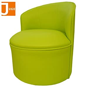 Jugo Children Comfy Roundy Leather Sofa Armchair (Apple Green) from Jugo