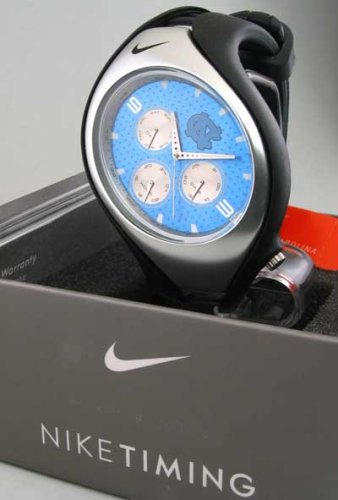 MEN WOMENS NIKE RESIN NCAA NORTH CAROLINA TRIAX SWIFT 3 EYE DAY DATE WATCH WD0035-006