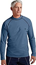 Coolibar UPF 50+ Men's Long-Sleeve Swim Shirt (XX-Large - Steel Grey)