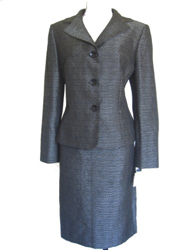 EVAN PICONE Victoria 2PC Jacket/Skirt Suit-OLIVE GREEN-14