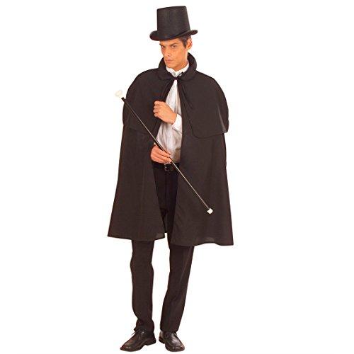 Mantello nero mantellina coprispalla accessori costume medievale Halloween mantello prestigiatore sacerdote - 100 cm