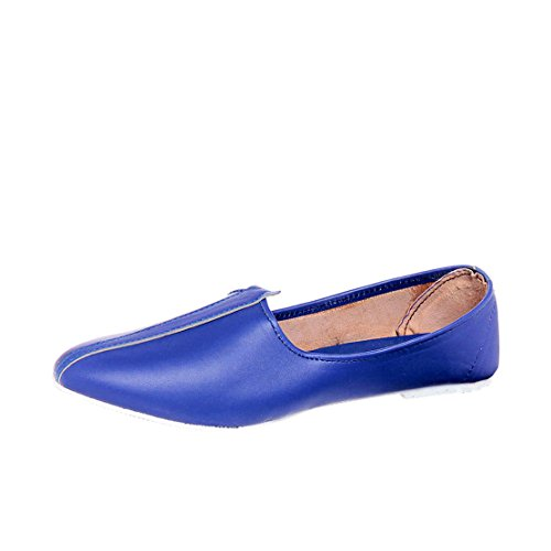 Foot n Style Men's Blue Synthetic Mocassins ( 276-Blue-42 ) - 8  available at amazon for Rs.399