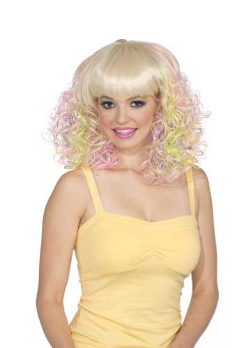 Rubie's Costume Blond and Pastel Curly Wig