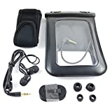 WCI Sealed Waterproof Armband Bag With Necklace Strap for Underwater Swimming And Sports - Protects Apple iPod iPhone Mobile Phones And Most MP3 Players - Includes Custom Waterproof Quality Earphones