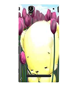 Cute teddy Back Case Cover for Sony Xperia T2
