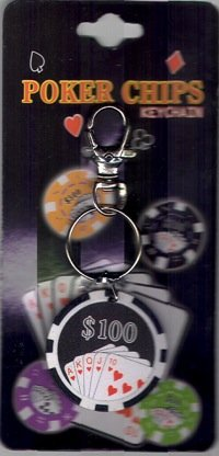 Loftus International Poker Chip Keychain - 1