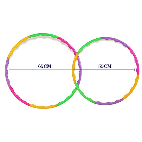 RUNSTAR Adjustable Colourful Kids Hula Hoop Child Sports Aerobics Fitness Gymnastic 65CM