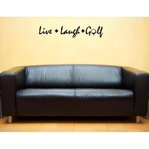 LIVE LAUGH GOLF Vinyl wall lettering stickers quotes and sayings home art decor decal