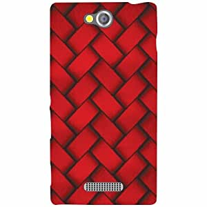 Design Worlds Sony Xperia C Back Cover - Laces Designer Case and Covers