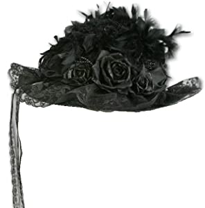 Elegant Black Victorian Touring Hat from Greatlookz