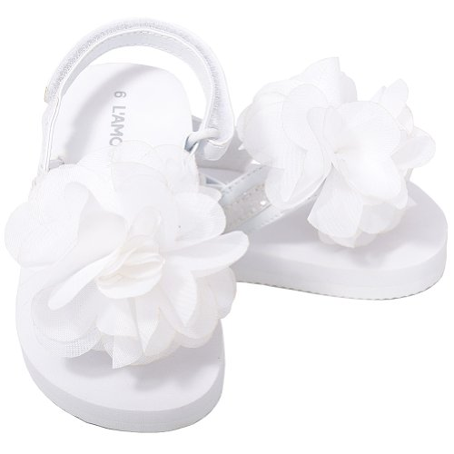 Toddler Girl White Sandals front-1057953