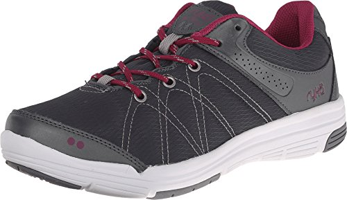 RYKA Women's Summit Walking Shoe, Metallic Iron Grey/Iron Grey/Raspberry Radiance/Forge Grey, 8.5 M US