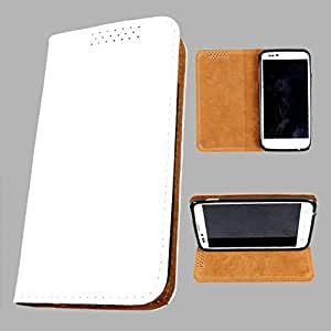 i-KitPit PU Leather Flip Case For Samsung Galaxy fame (WHITE)