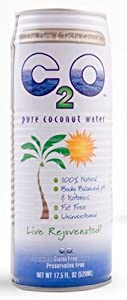 C2o Coconut Water - Unsweetened, 17.5000-Ounce (Pack of 12)